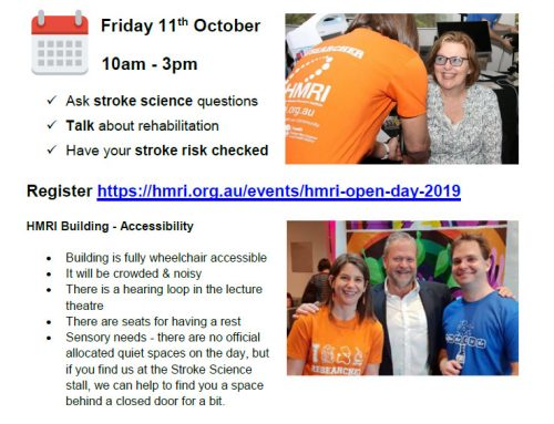 HMRI Open Day – Friday 11 October