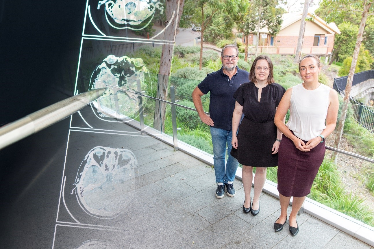 Three members of the PREDICT research team